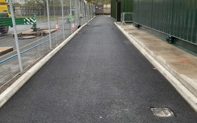 Innovative plastic road at Clyde Gateway offsets over 730kg of carbon emissions